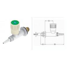 Кран для воды прямой, для установки в стену, со штуцером и наклонным вентилем, FAR 11010.1