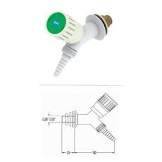 Кран для воды, угол 45, для установки в стену, со штуцером и наклонным вентилем, FAR 11011.1
