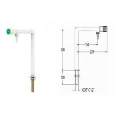 Кран для воды, Г-образный - 300 мм, для установки в стол, FAR 11062.1