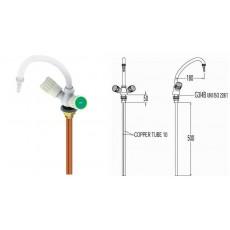 Смеситель для воды, изогнутый, для установки в стол, со штуцером, FAR 11082.3