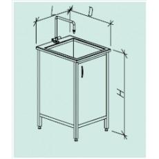 Стол-мойка одинарная 600 СМОд-М (серия ЦМ, Durcon, гл 280 мм., 600 х 600-700 х 900 мм)