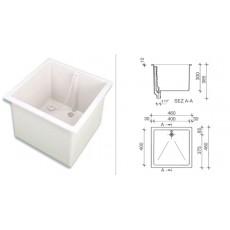 Мойка полипропиленовая SNK0443W, (раковина глубокая, размеры внутр/внешн: 400х400 мм/460х460 мм, глубина300 мм)