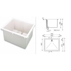 Мойка полипропиленовая SNK0543WSL, (раковина глубокая, размеры внутр/внешн: 500х400 мм/560х460 мм, глубина300 мм)
