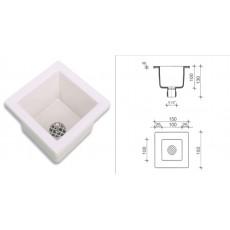 Мойка полипропиленовая SNK1515W, (раковина, размеры внутр/внешн: 100х100 мм/150х150 мм, глубина 100мм)