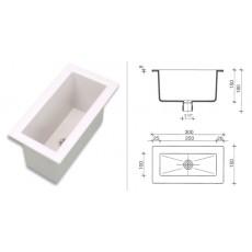 Мойка полипропиленовая SNK3015W, (раковина, размеры внутр/внешн: 250х100 мм/300х150 мм, глубина150мм)