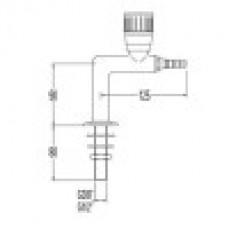 Кран лабораторный для технического газа, Г-образный, для установки в столешницу (mod. 3010)