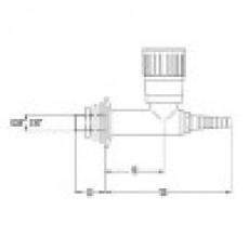 Кран линейный для природного газа, для установки в стену (mod. 2050)