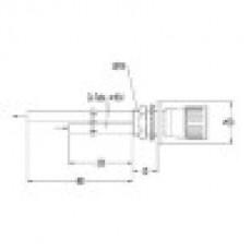 Фронтальный вентиль для технического газа, в вытяжной шкаф (mod. 3310)