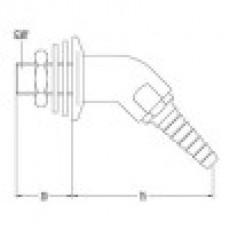 Выпускной патрубок для технического газа, угол 45 (mod. 3324)