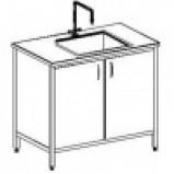 Стол-мойка одинарная 800 СМОн-М (серия ЦМ, нерж. сталь с бортиком, гл 250 мм, 800х600х900 мм)