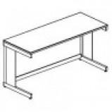 Стол лабораторный разборно-металлический 1200 СЛВкб-У (Монолит. керамика с борт.)