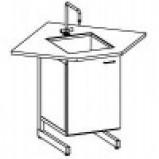 Стол-мойка одинарная разборно-металлическая 900 СМОУд-У (Durcon, гл 280 мм.)